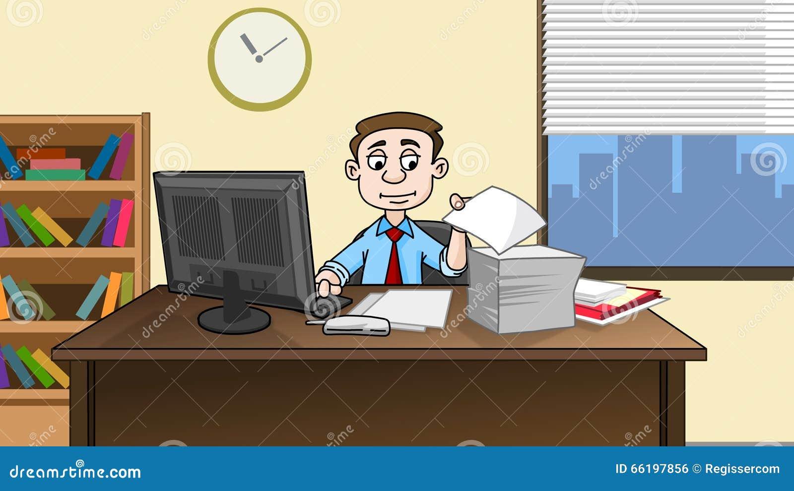 cartoon office desk wwwimgkidcom the image kid has it