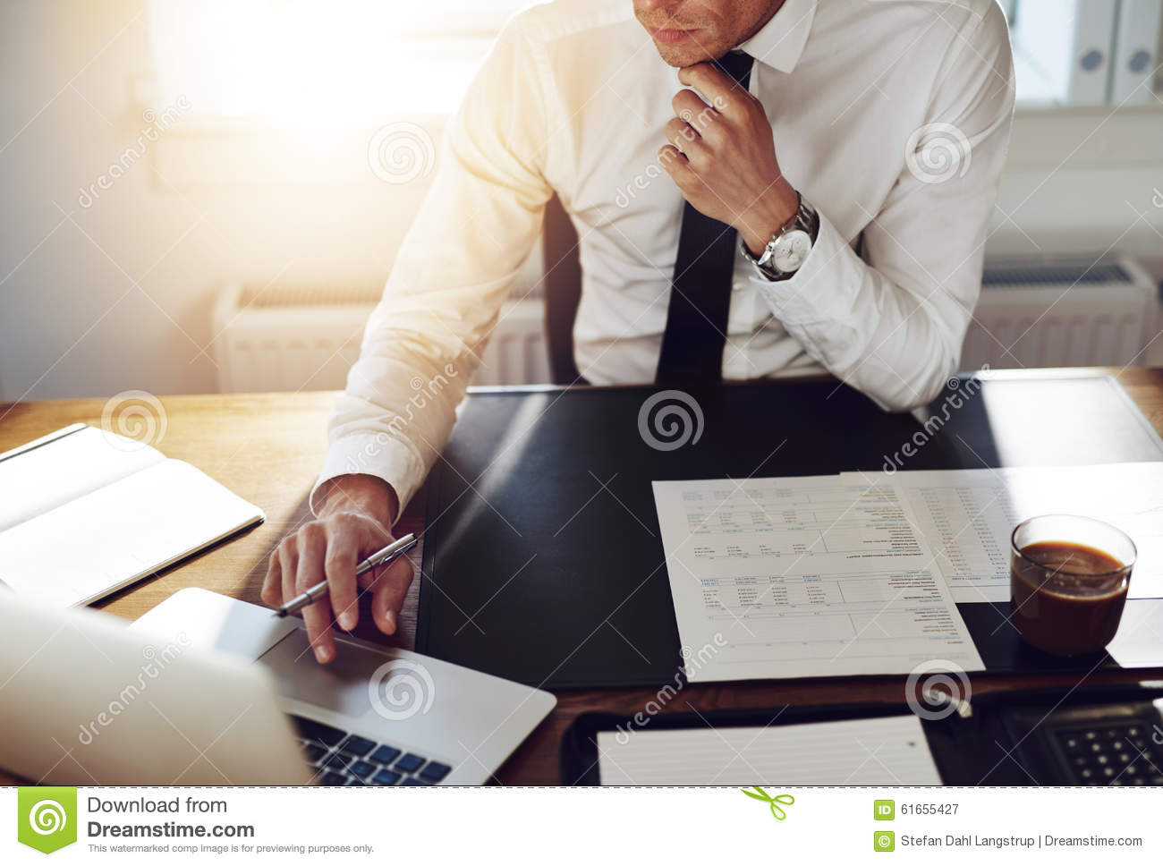 Business man working at office, Consultant lawyer concept
