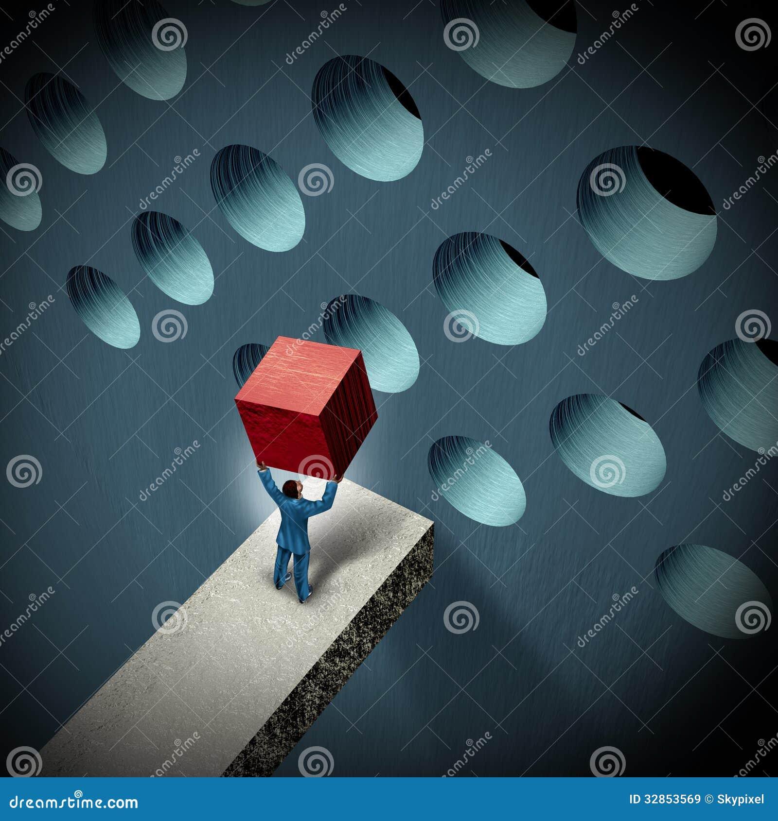 Business Management Challenges Stock Illustration
