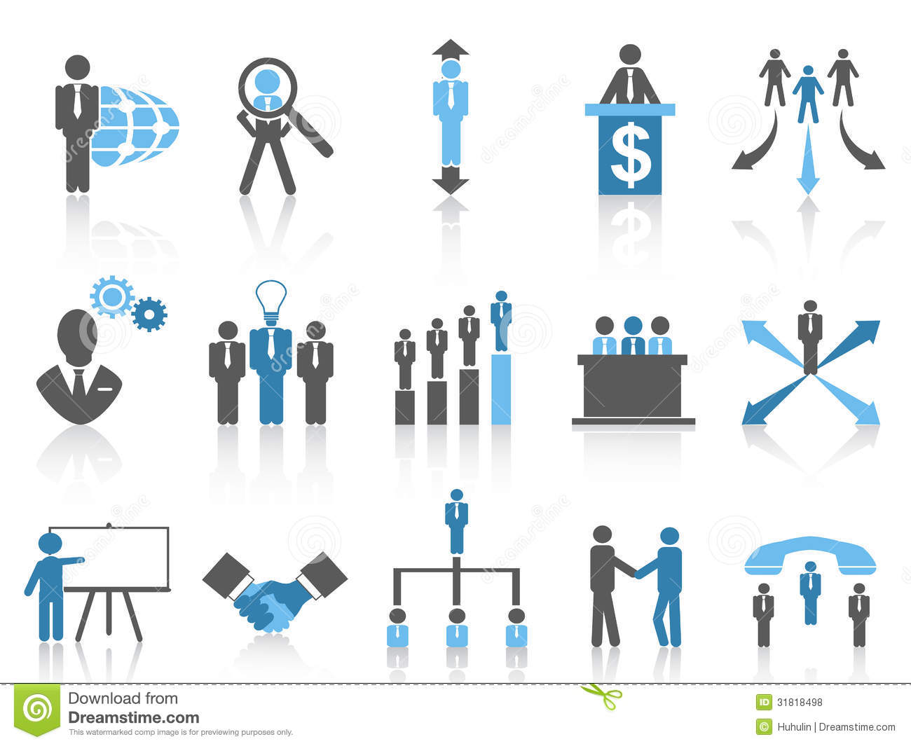 Business And Management Icons Blue Series Royalty Free
