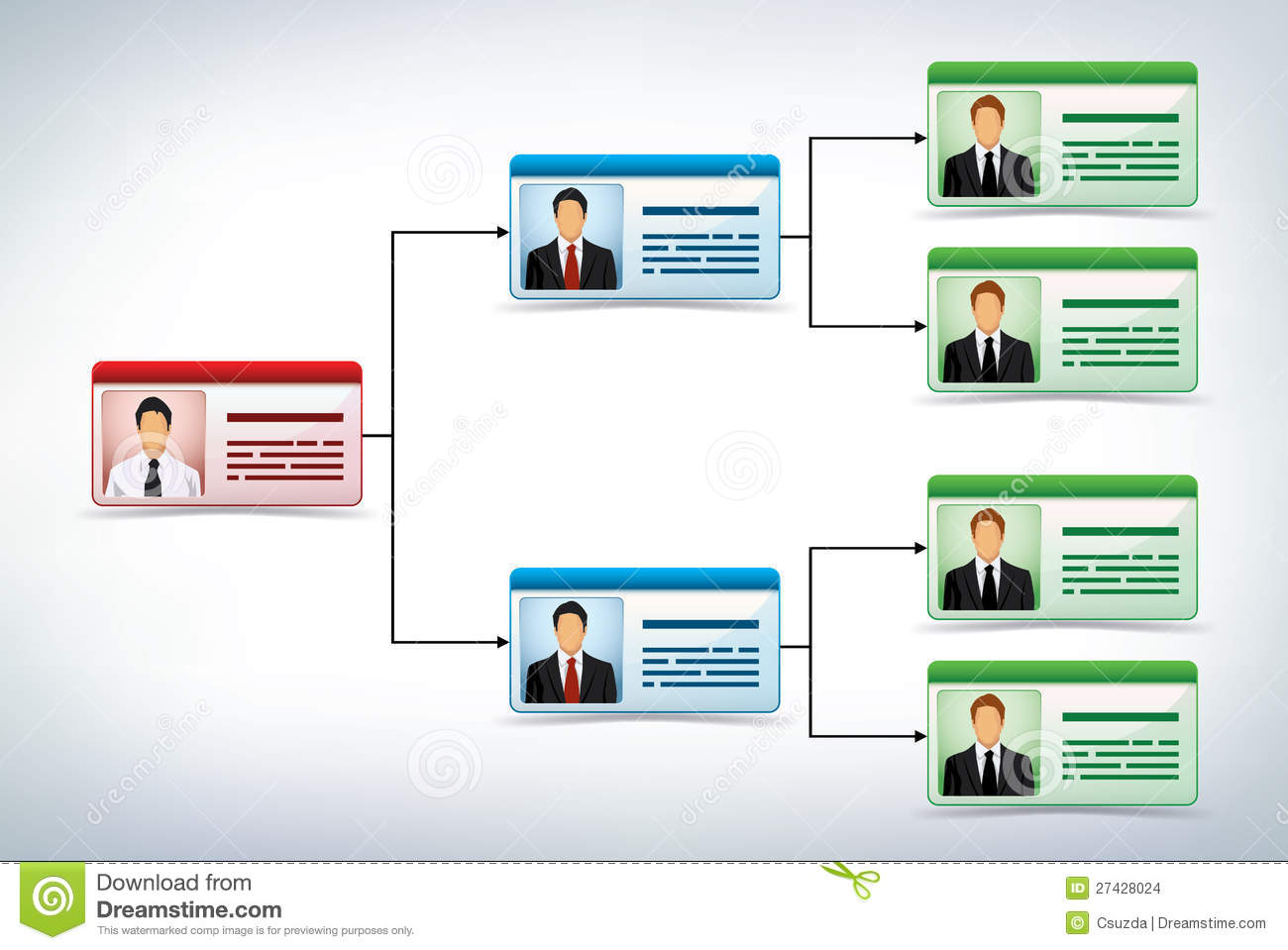 Business Management Tree Template Stock Images - Image: 27428024