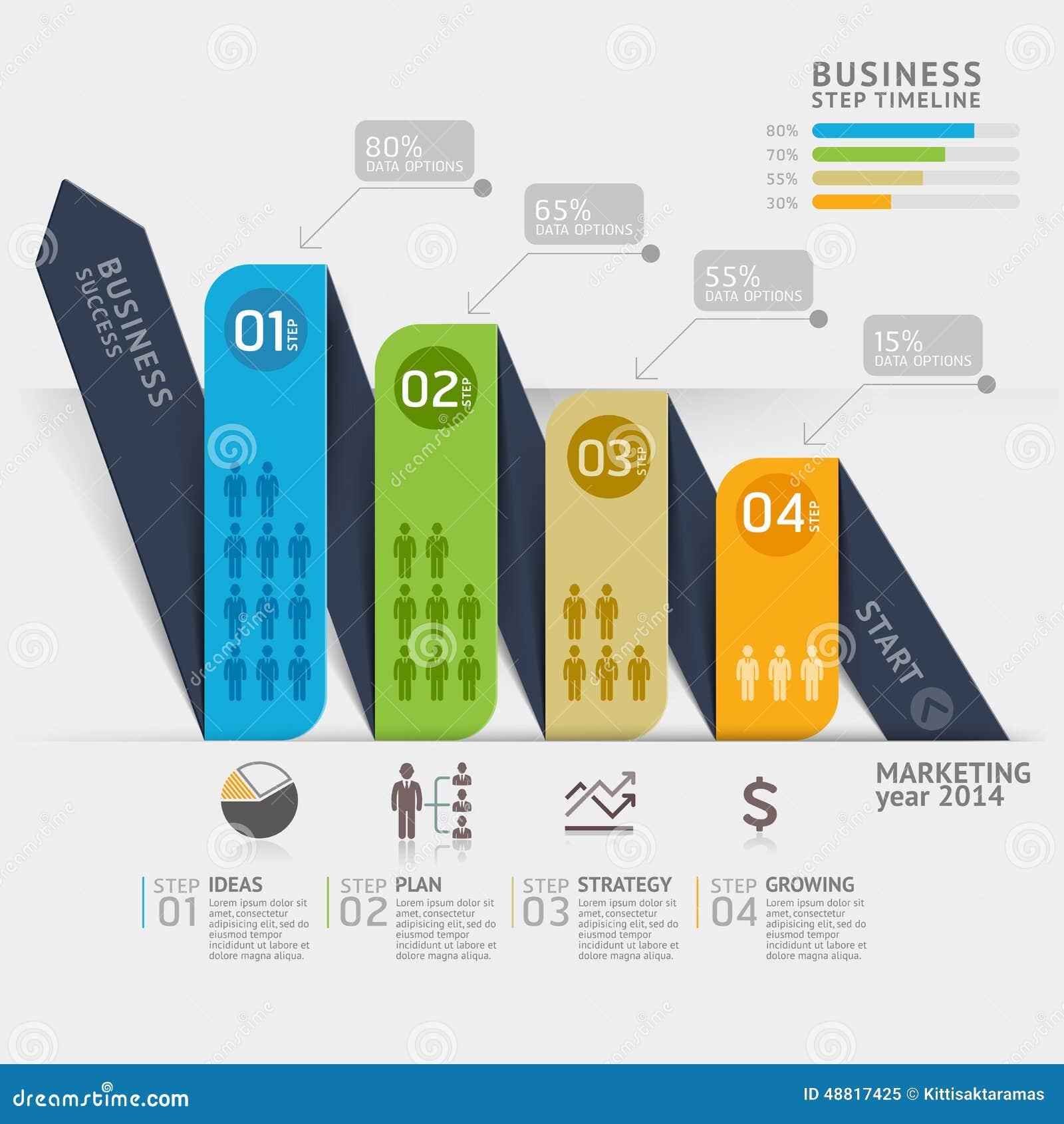 Business Marketing Arrow Timeline Template Vector Image – Marketing Timeline Template
