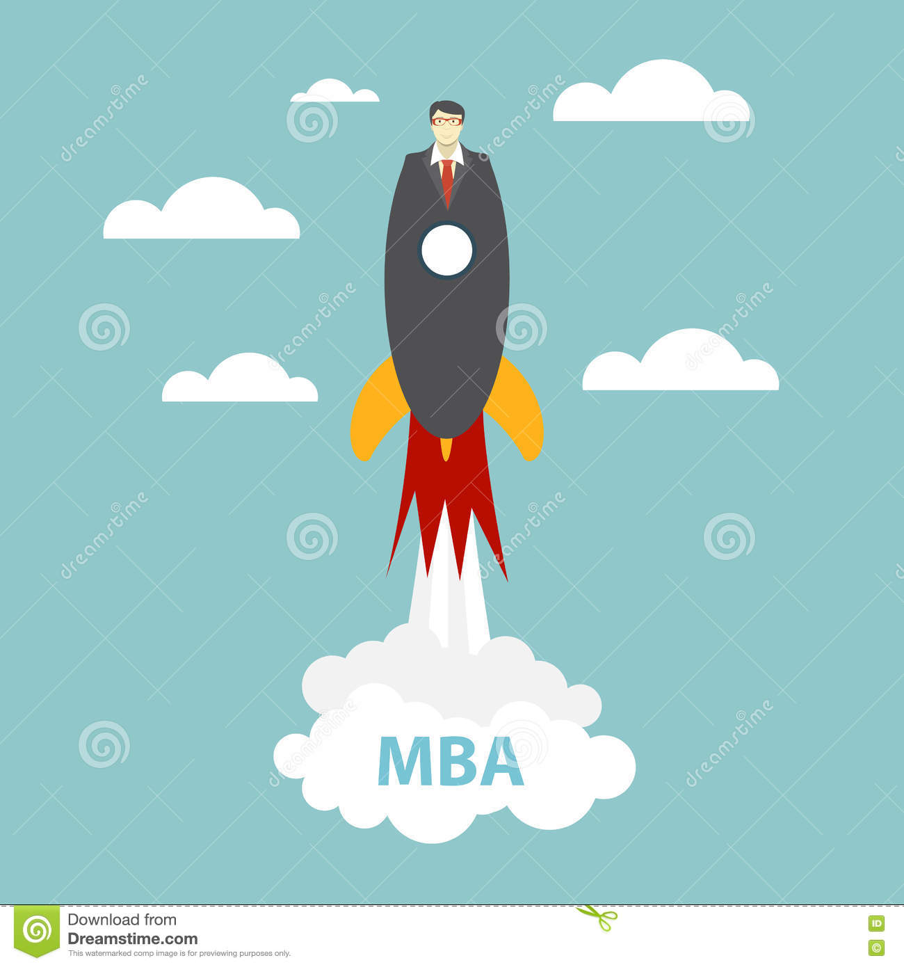 Business MBA Education Concept. Trends and innovation in education. Vector Illustration