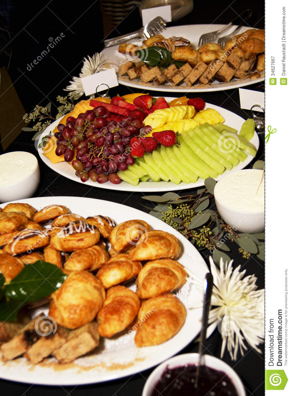Business Meeting Breakfast Party Buffet Royalty Free Stock