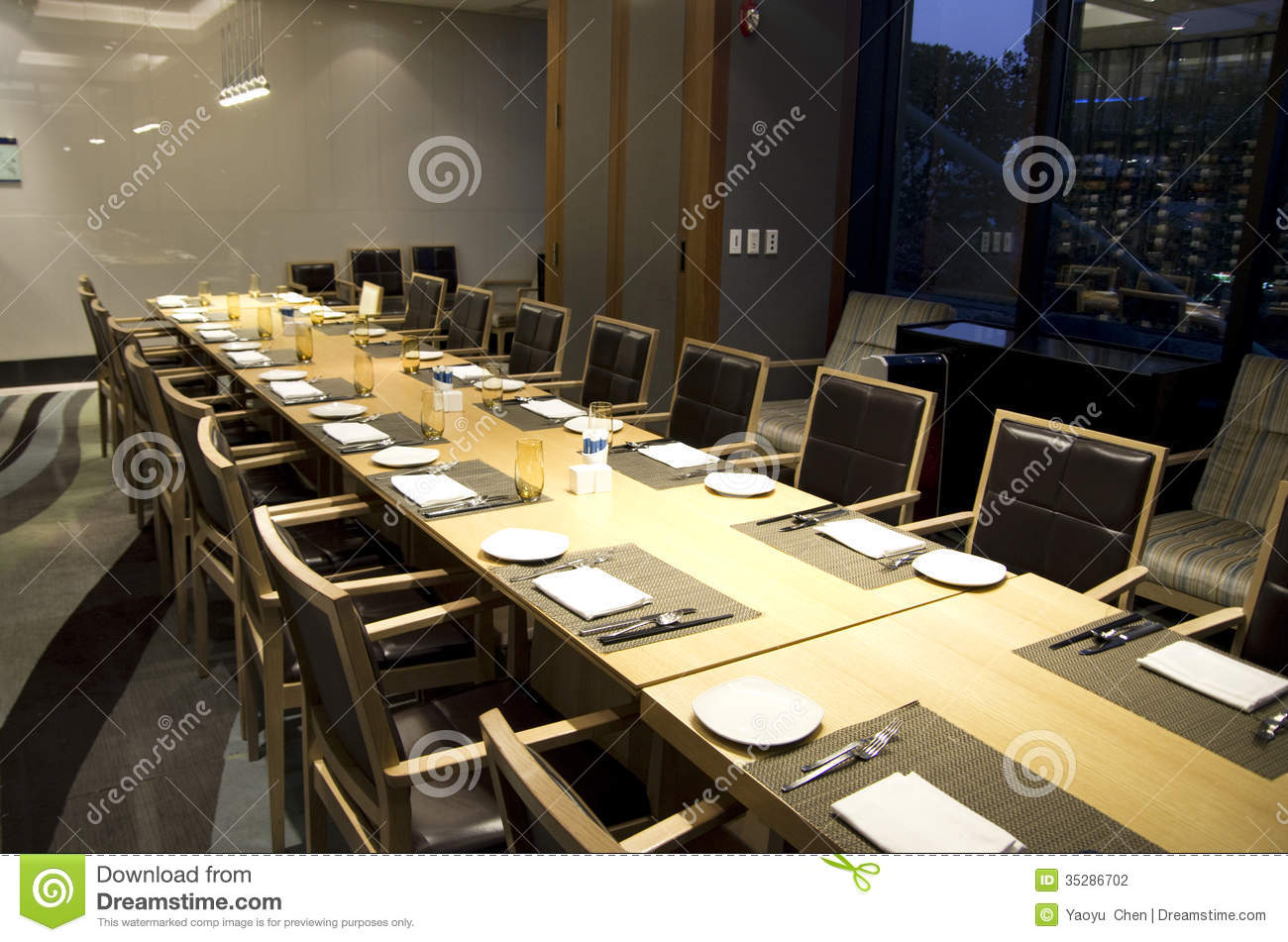 Business Meeting Dining Table In Hotel Restaurant Stock  : business meeting dining table hotel restaurant big private room 35286702 from www.dreamstime.com size 1300 x 951 jpeg 160kB