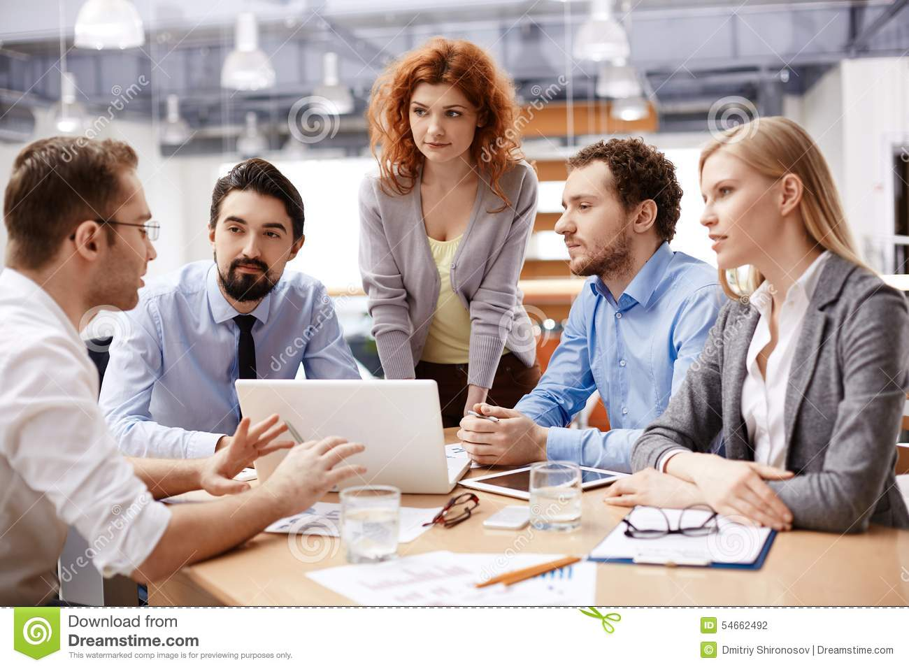 Stock Fotos E Imágenes: Business Meeting Stock Photo