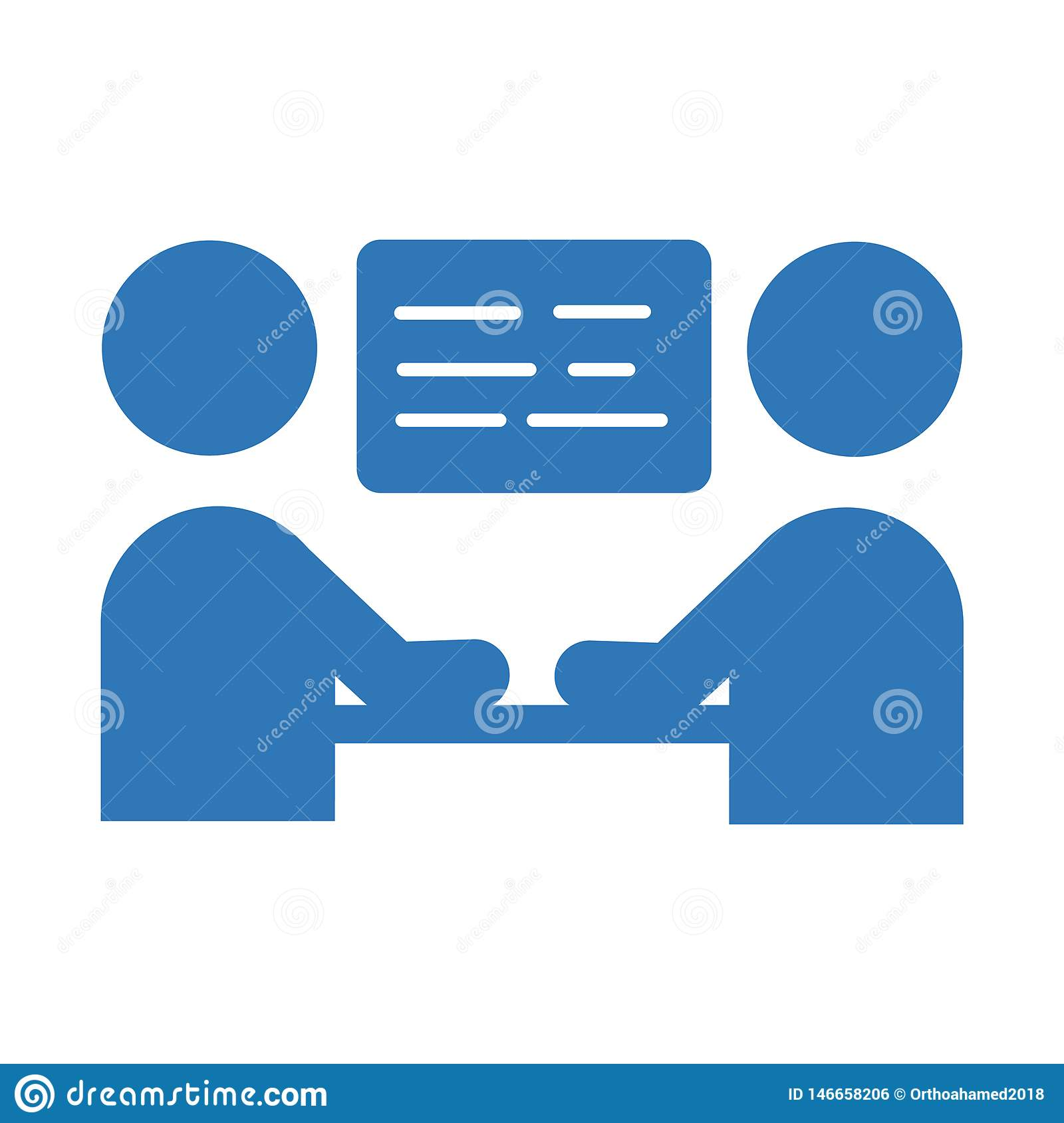 Business meeting icon. Vector sign symbol