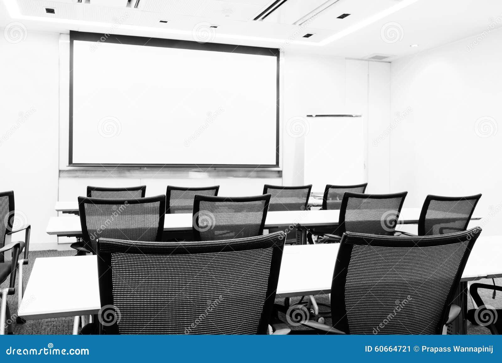 Business meeting seminar presentation room