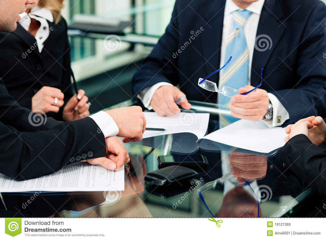 Business Meeting With Work Contract Stock Image Image