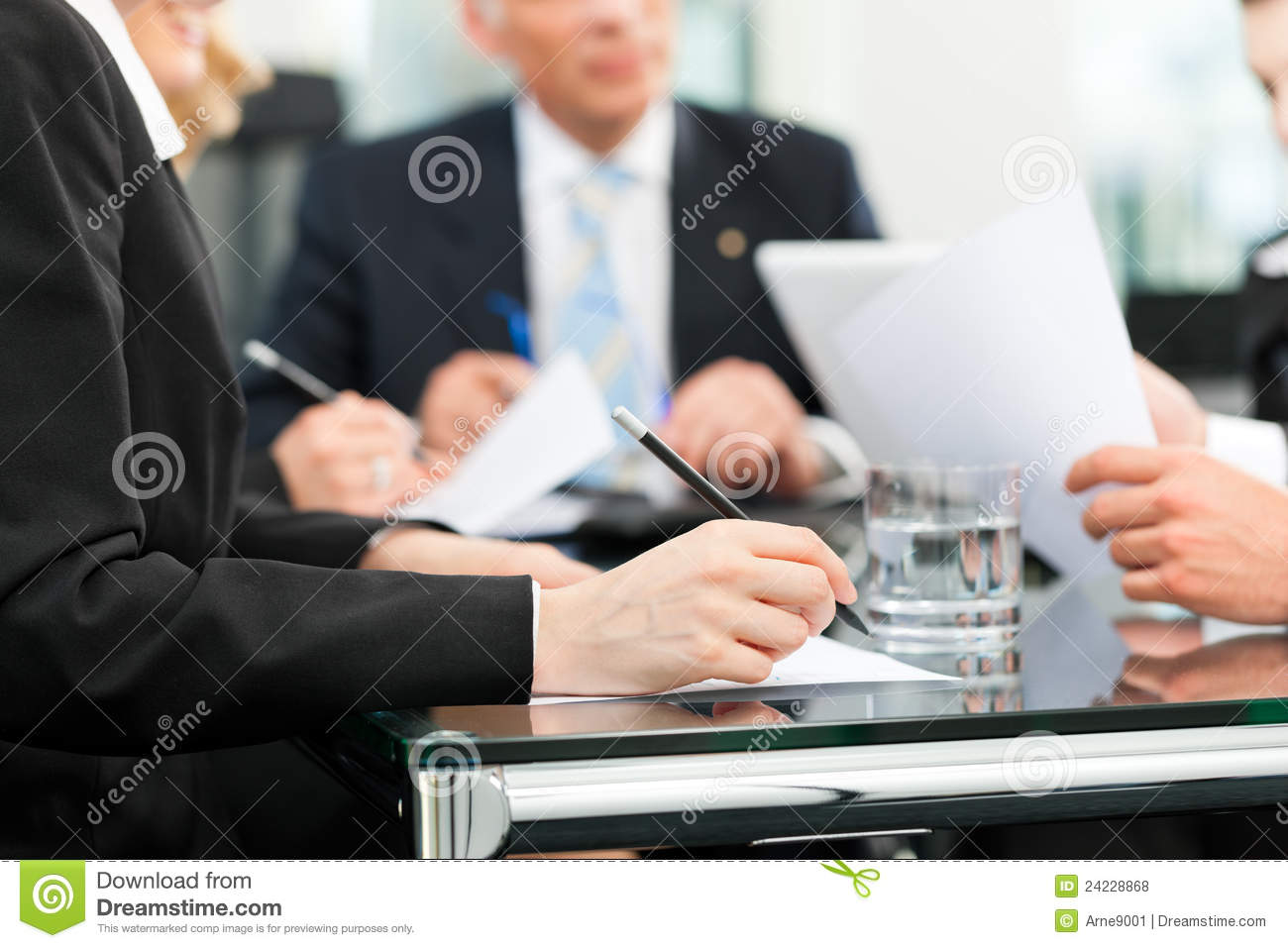 Business Meeting With Work Contract Royalty Free Stock