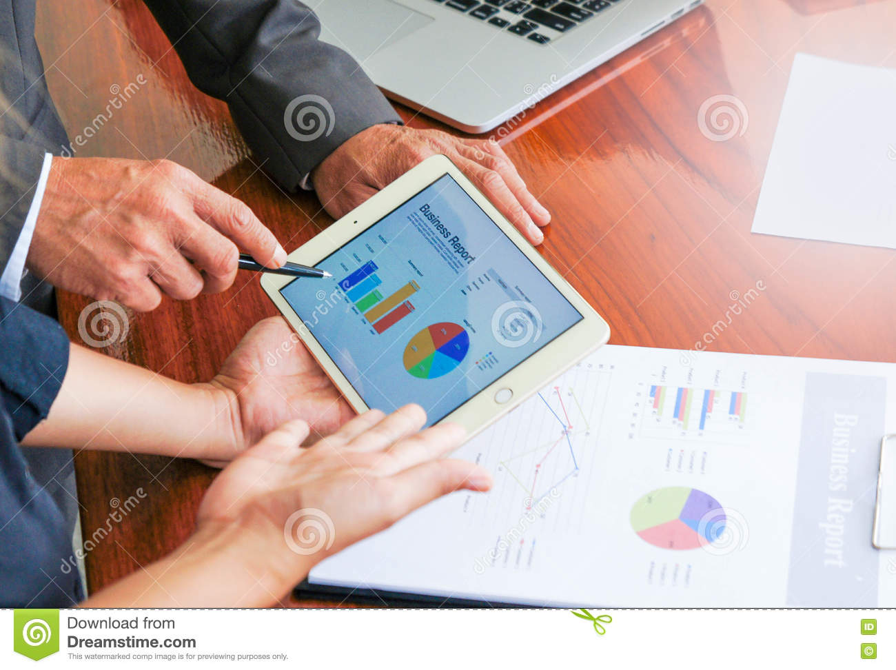 Download Business Meetings, Documents, Sales Analysis, Analysis Results Stock Photo - Image of plan, analysis: 82343232