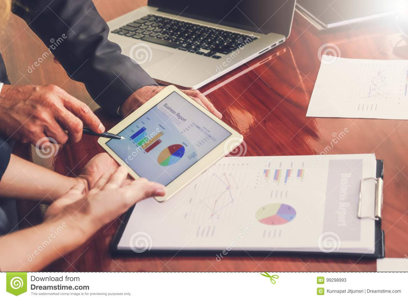 Business meetings, documents, sales analysis, Analysis results ,