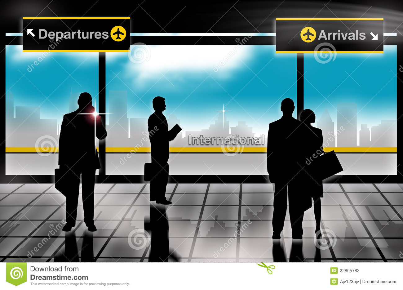 Free Images Traveling People Airport Bridge Business: Business Men Arrivals Departures Lounge Airport Stock