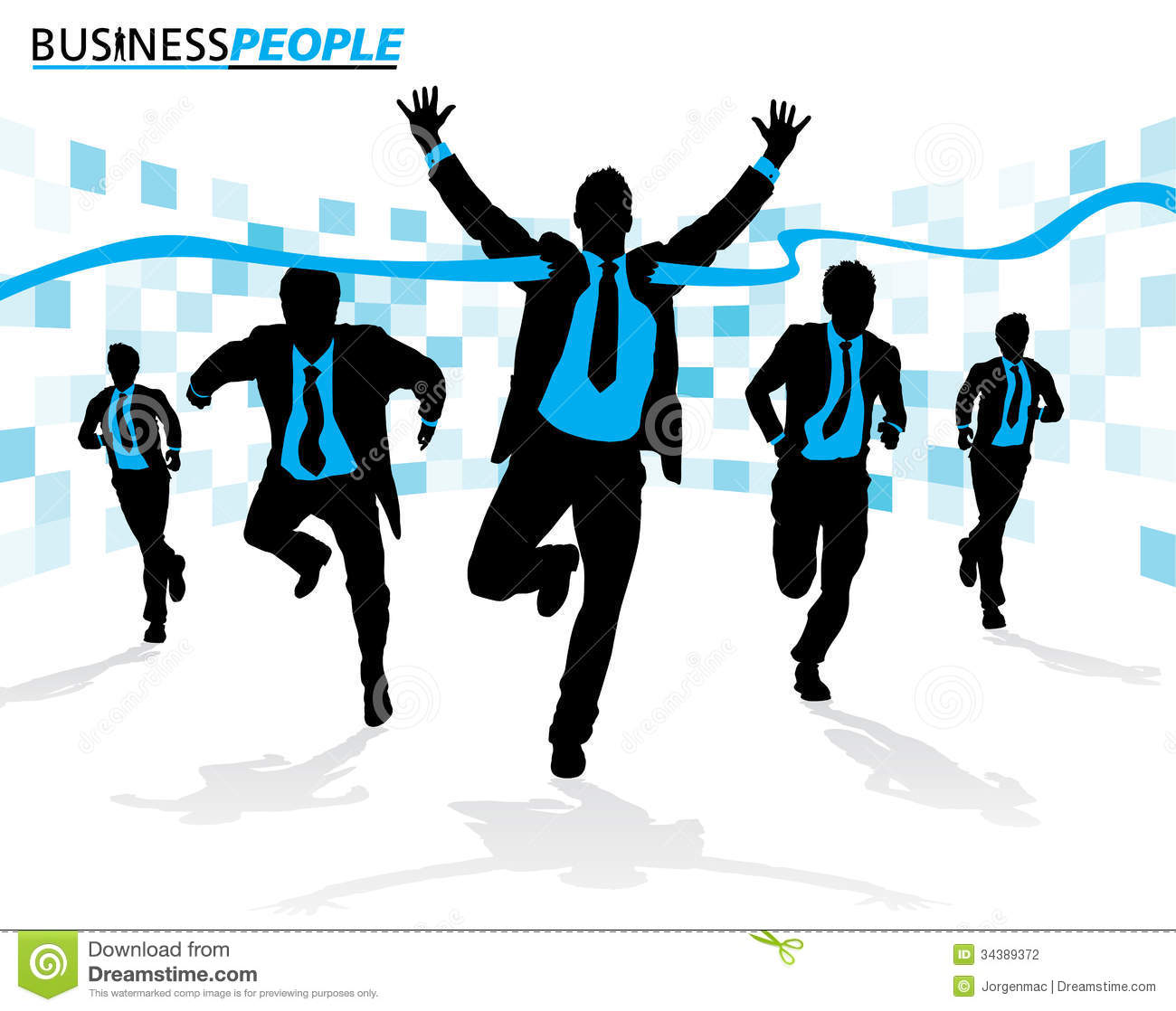 business men in career race stock photography image  business men in career race