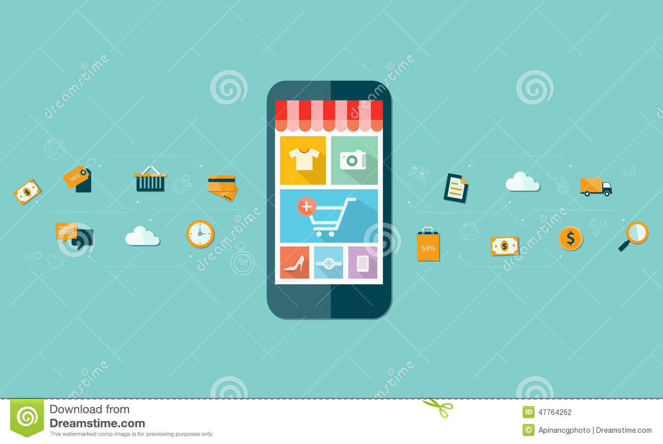 Business mobile online shopping on mobile device for Shop on line mobili