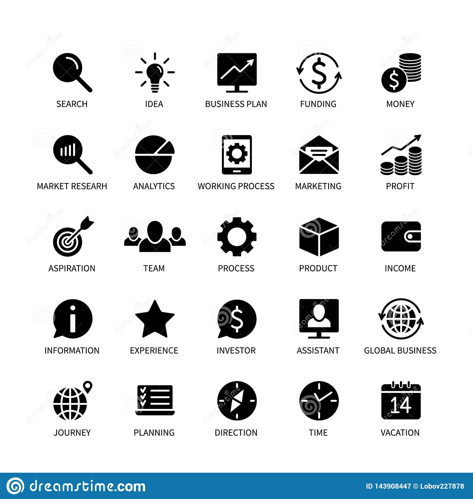 Business money contact icons marketing analysis time search idea income bank social media technology format logistics