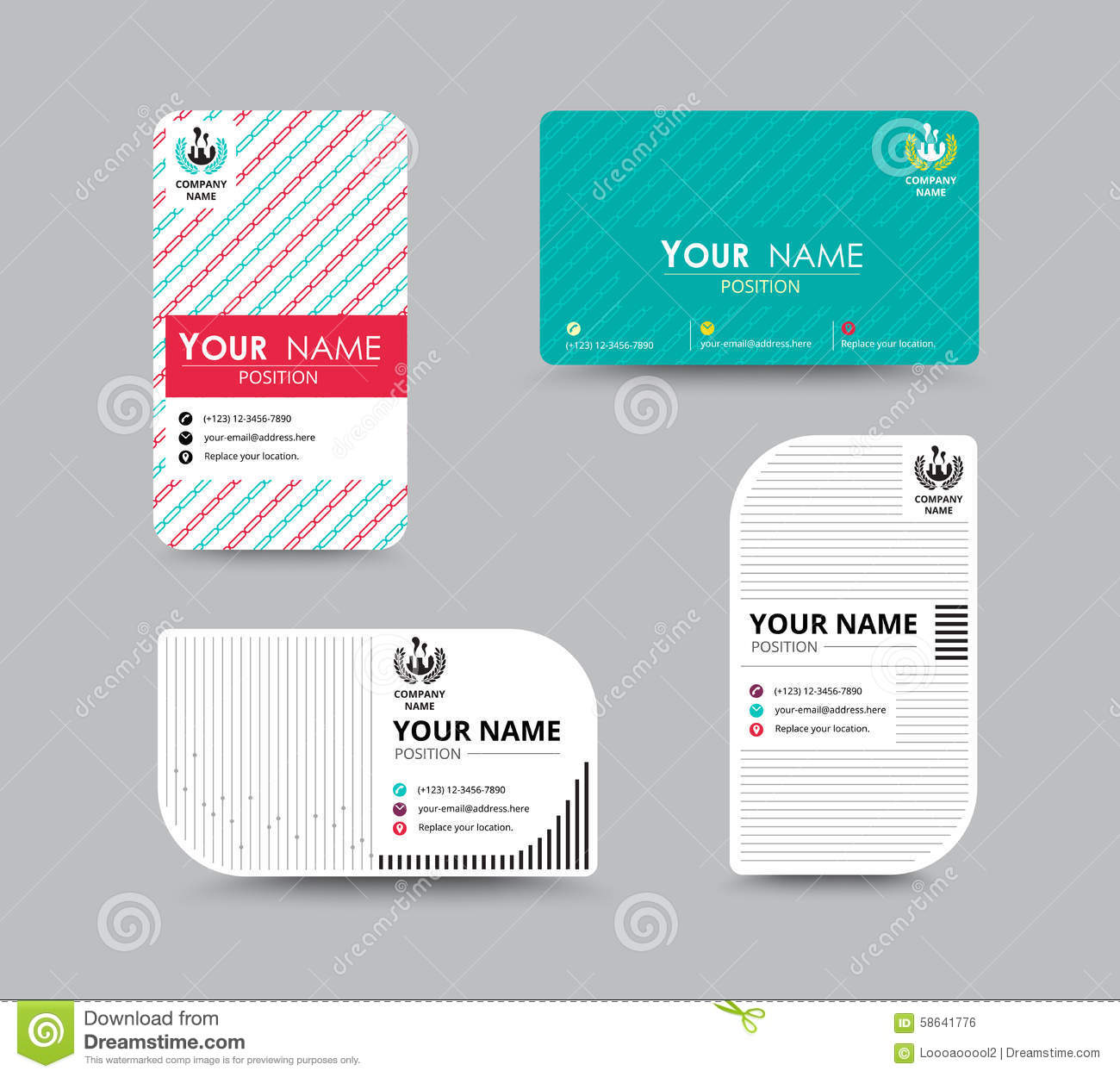 Business Name Card Design For Corporation Card Template Vector – Sample Name Card