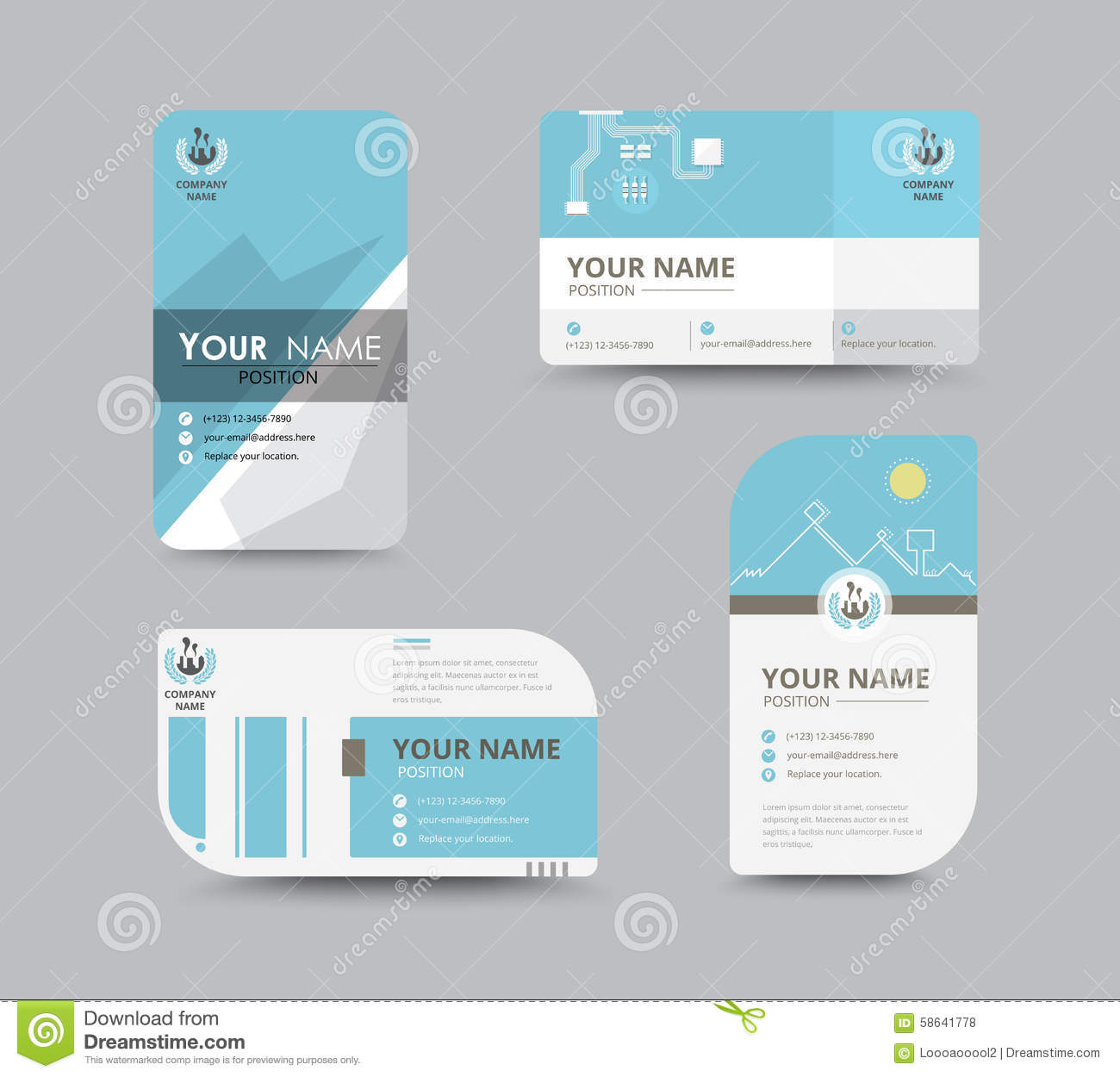 Business Name Card Design For Corporation Card Template Vector - Sample name tag templates