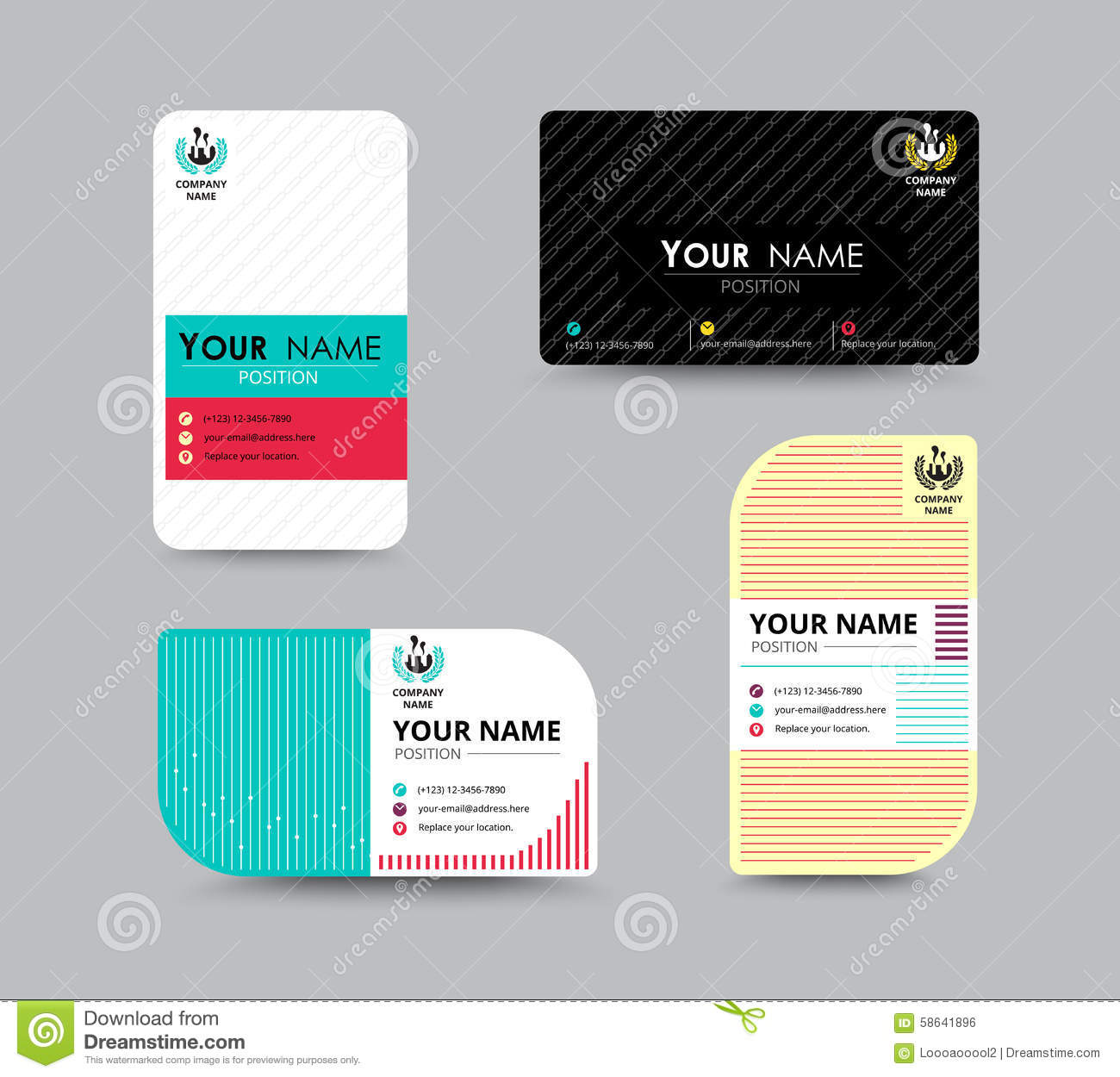 Business name card design for corporation card template vector business greeting card template design introduce card include sample text position vector illustration design wajeb Choice Image