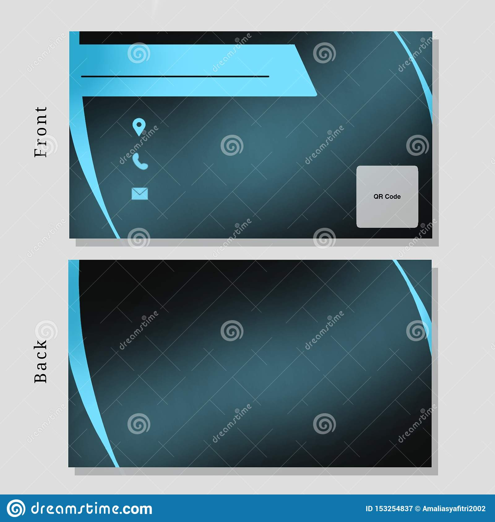 Business Name Card Design Tosca Color