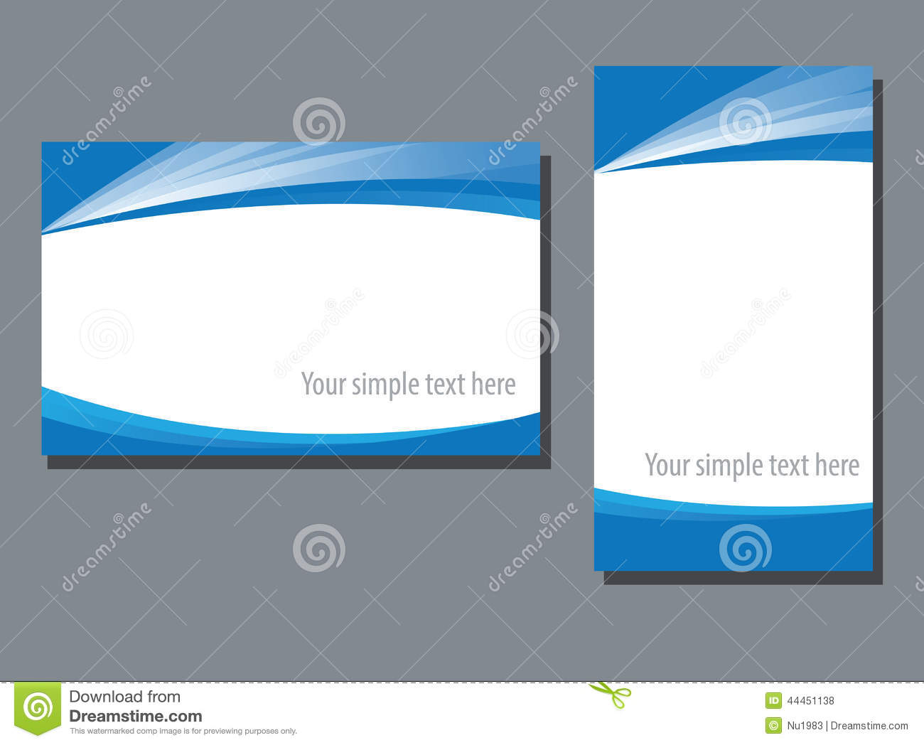 Business Name Card Template Stock Vector - Image: 44451138