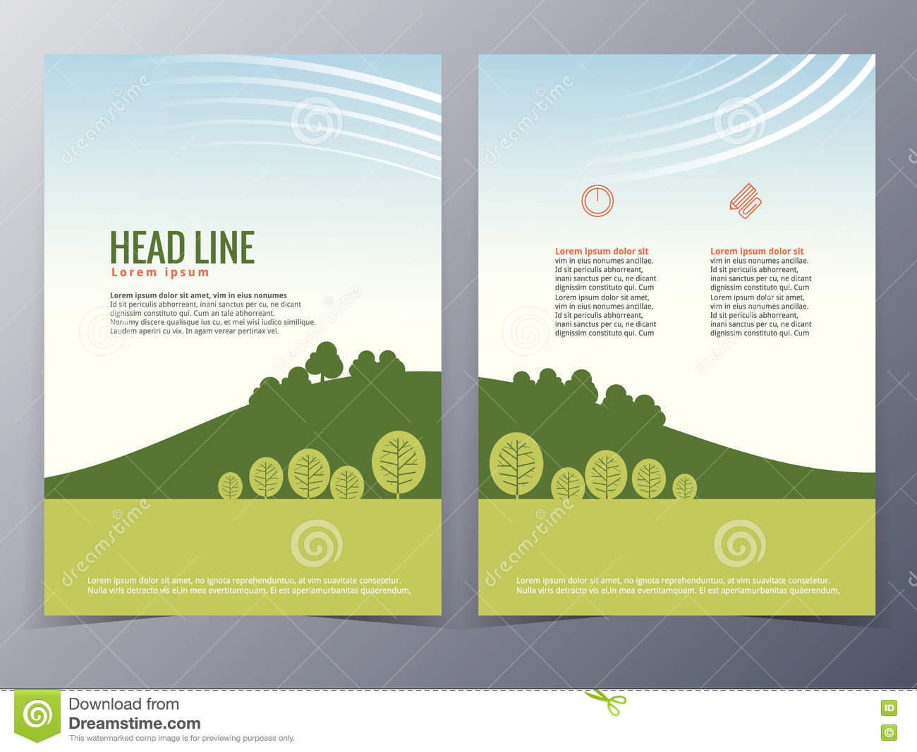 Poster design nature - Business And Nature Brochure Design Template Vector Stock Vector