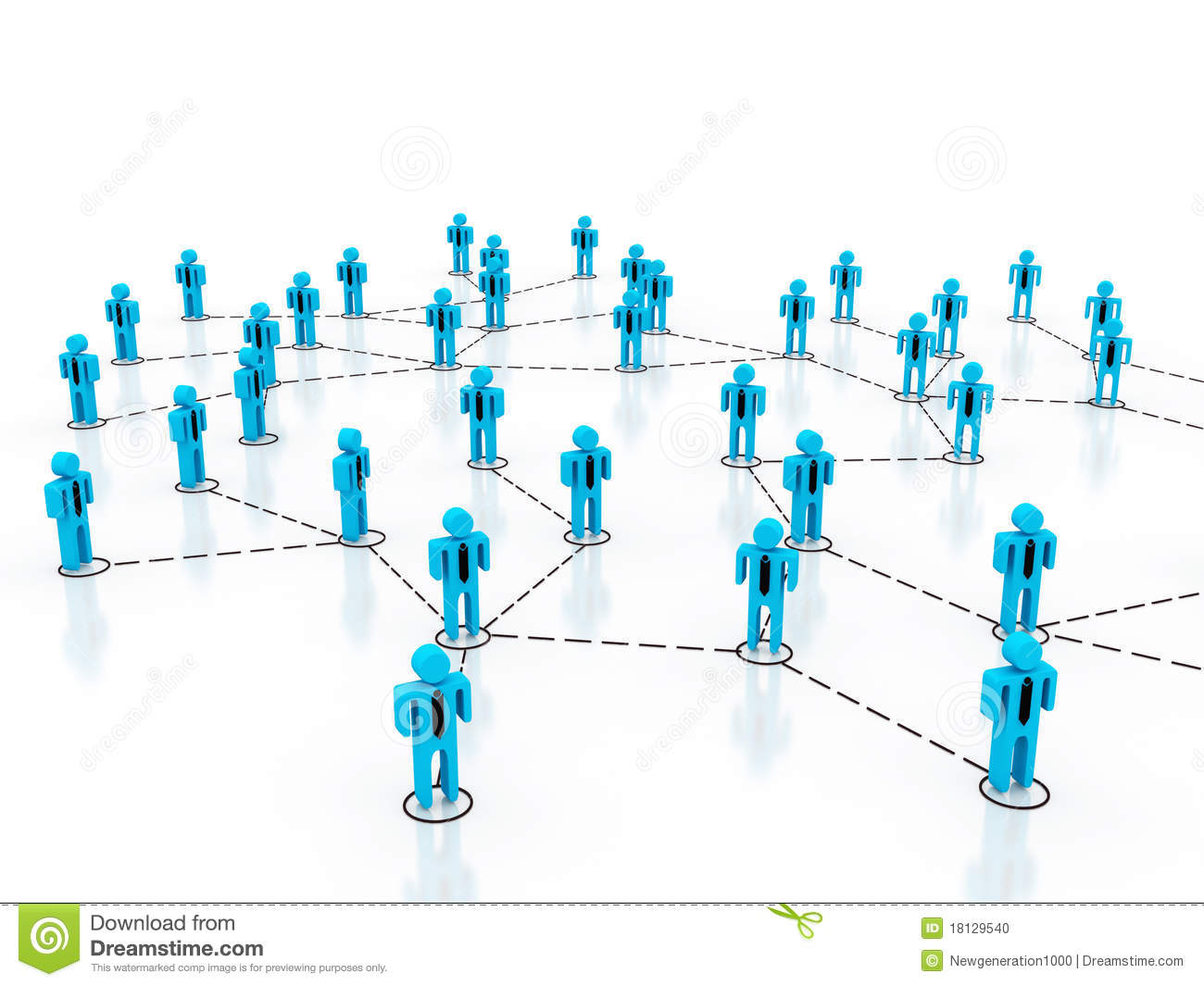 Business network stock photo image 18129540