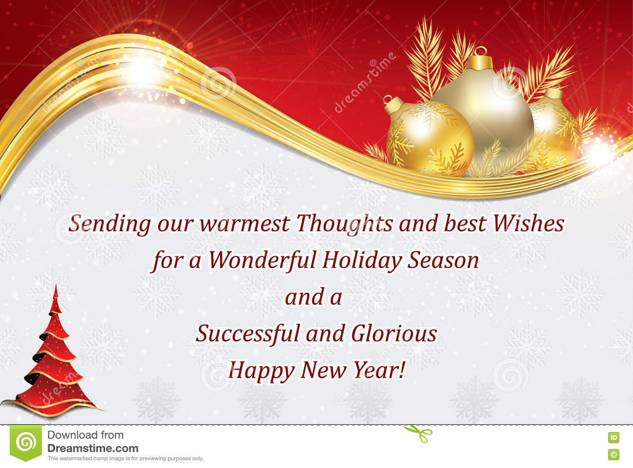 business new year greeting card