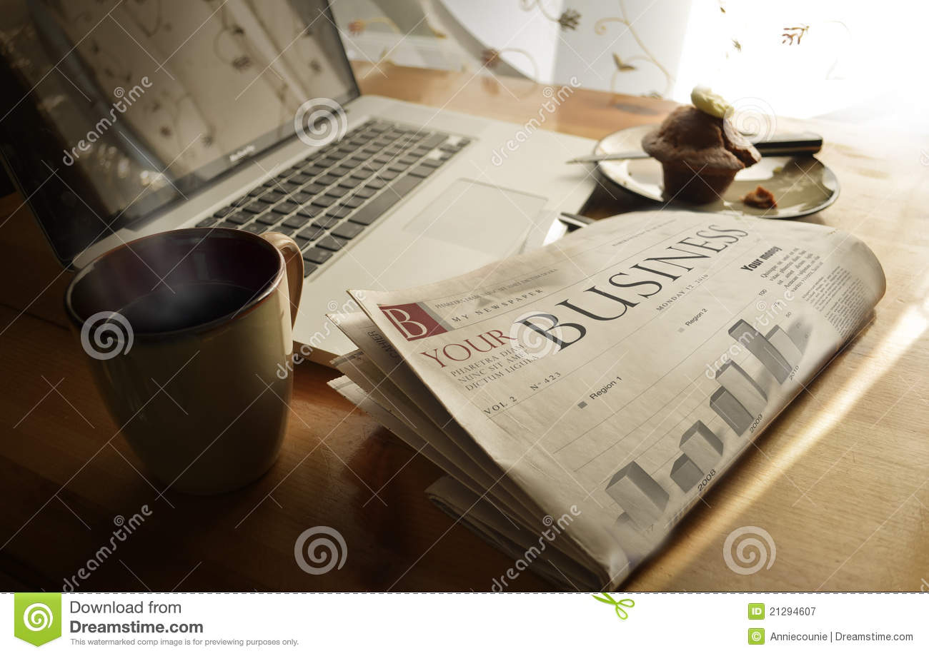 Daily business newspaper