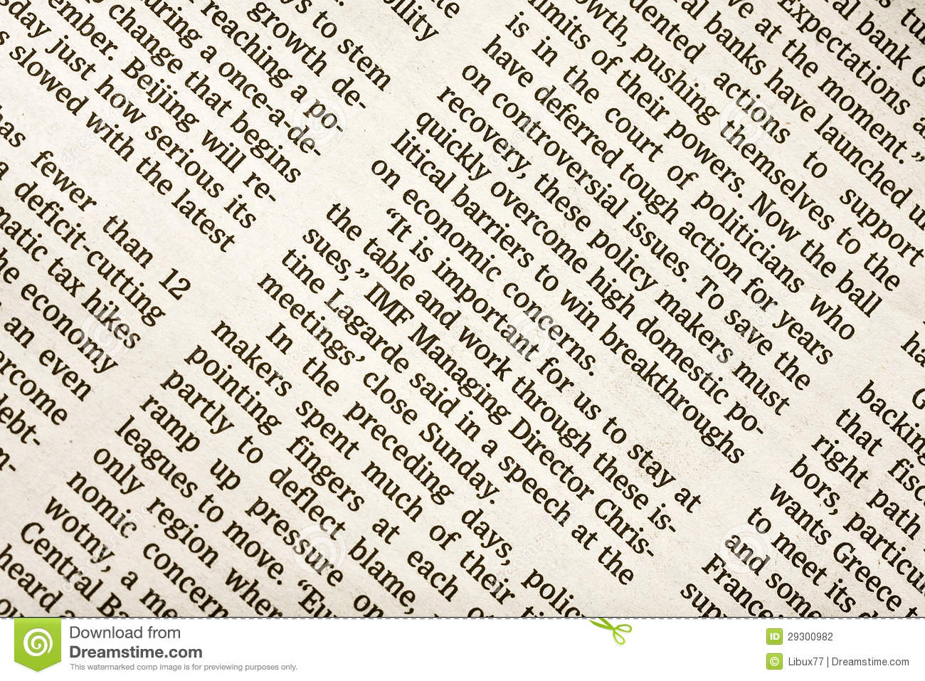 Business newspaper background editorial photography image 29300982