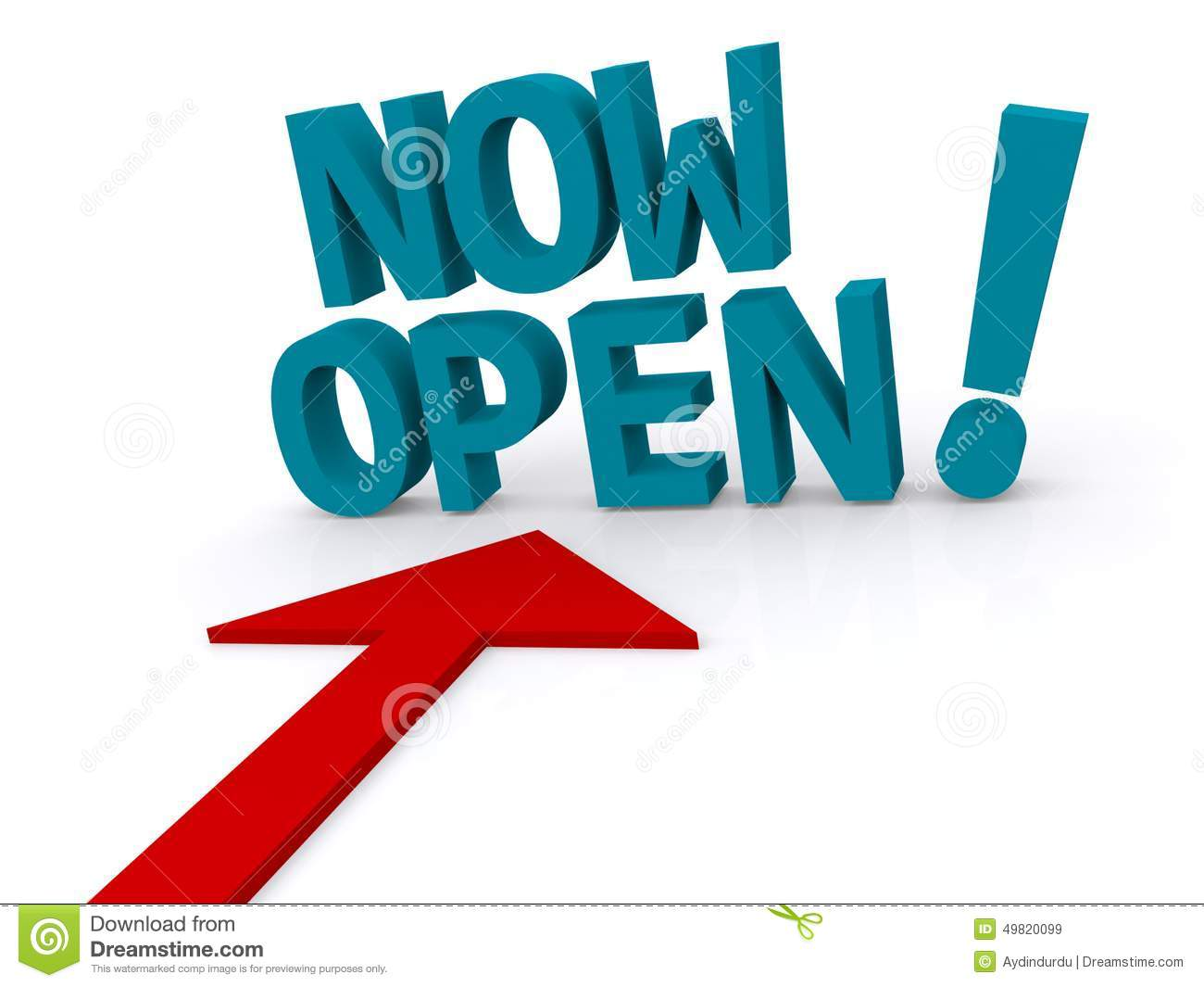 Open Now Sign Stock Photo - Image: 44687029
