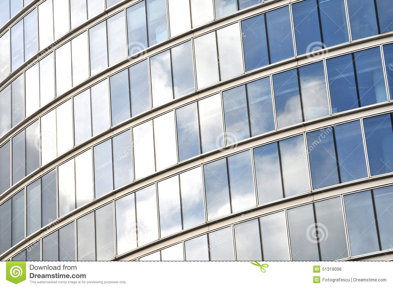 Glass Building Light : Business office reflective glass building stock photo