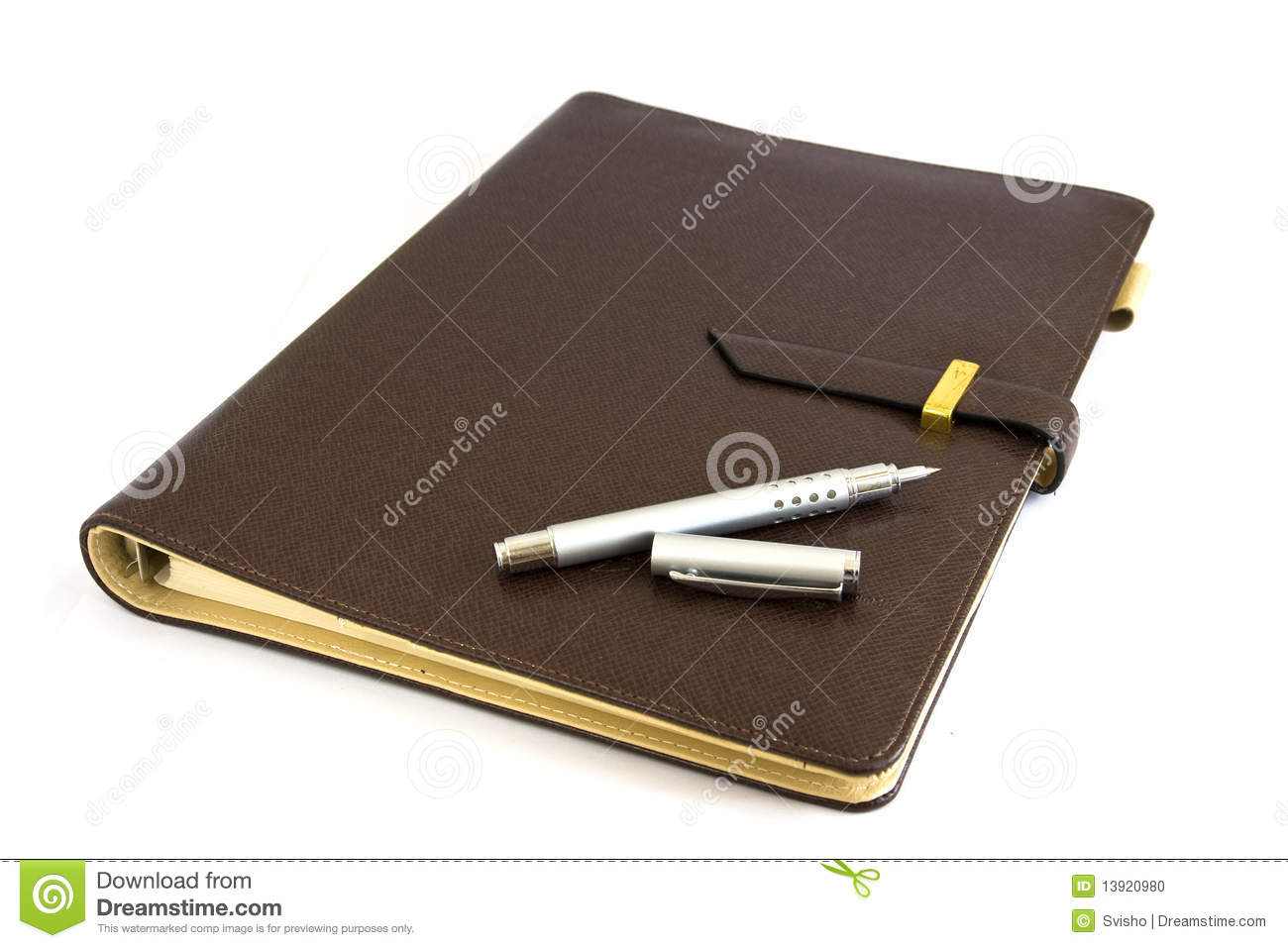 Business Organizer With Silver Pen Stock Photo Image 13920980