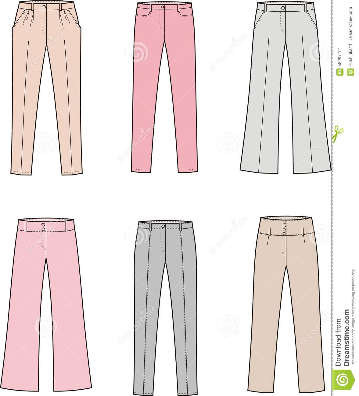 Popular Women39s Blouse And Pants Vector Illustration