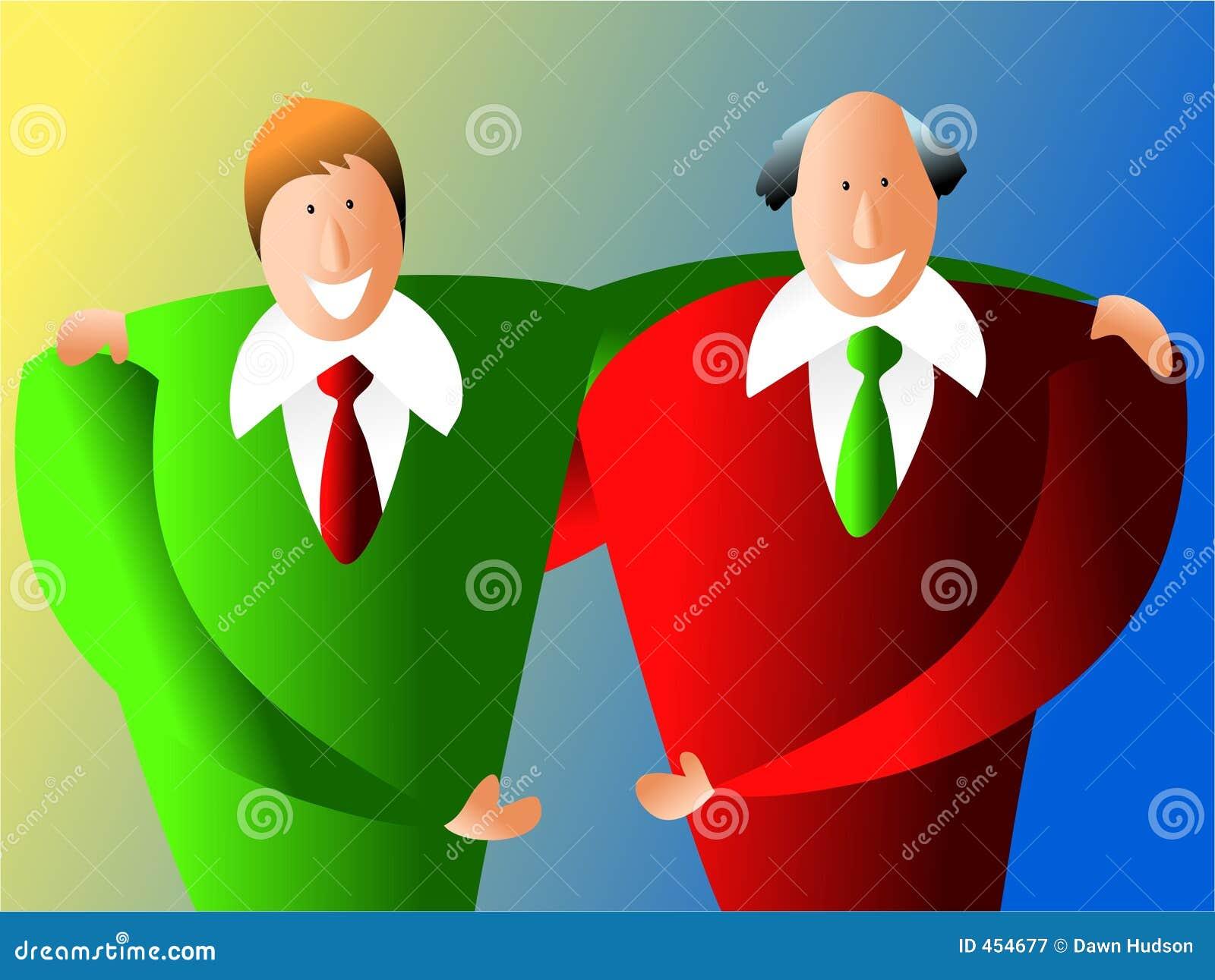 Download Business partners stock illustration. Illustration of agreement - 454677