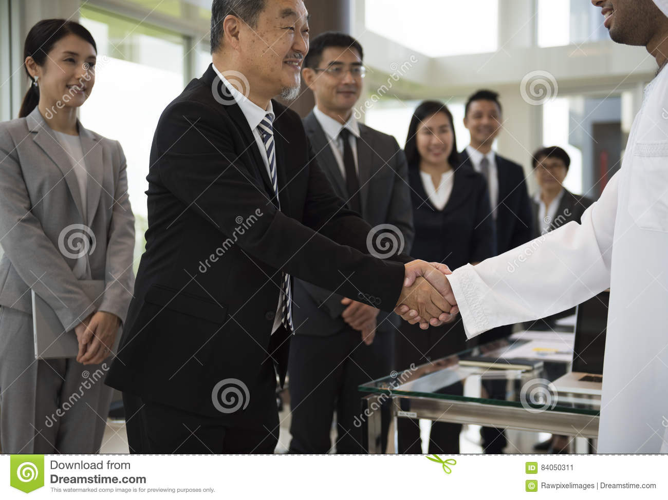 Business people handshake greeting deal at work photo free download - Business Partners Introduction Handshake Bow Stock Photo