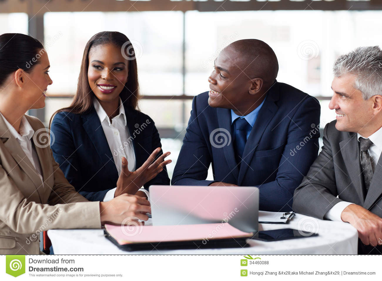 Business partners meeting