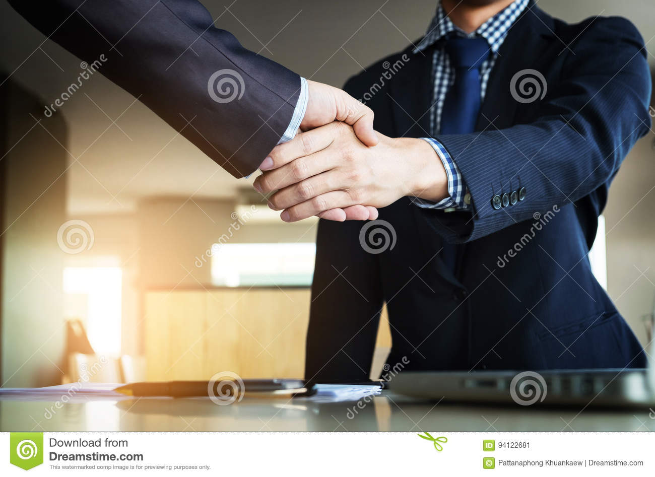 Business partnership meeting concept. Images of business people