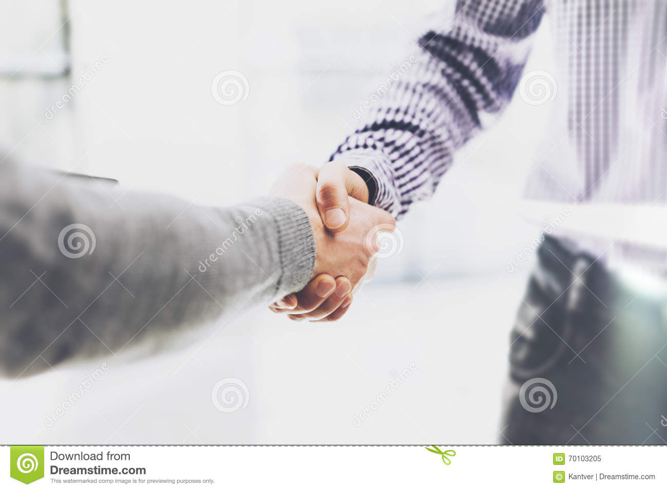 Business partnership meeting. Image businessmans handshake. Successful businessmen handshaking after good deal