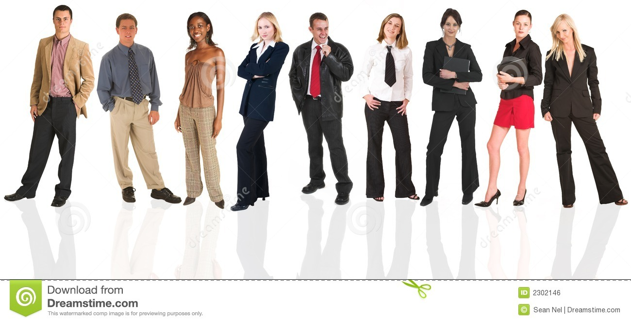group of business people all isolated on white for use on ...
