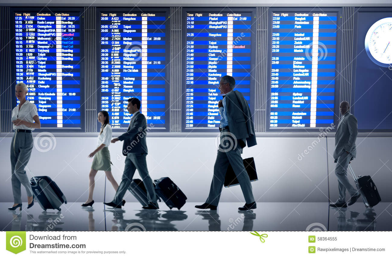 Free Images Traveling People Airport Bridge Business: Business People Airport Terminal Travel Departure Concept