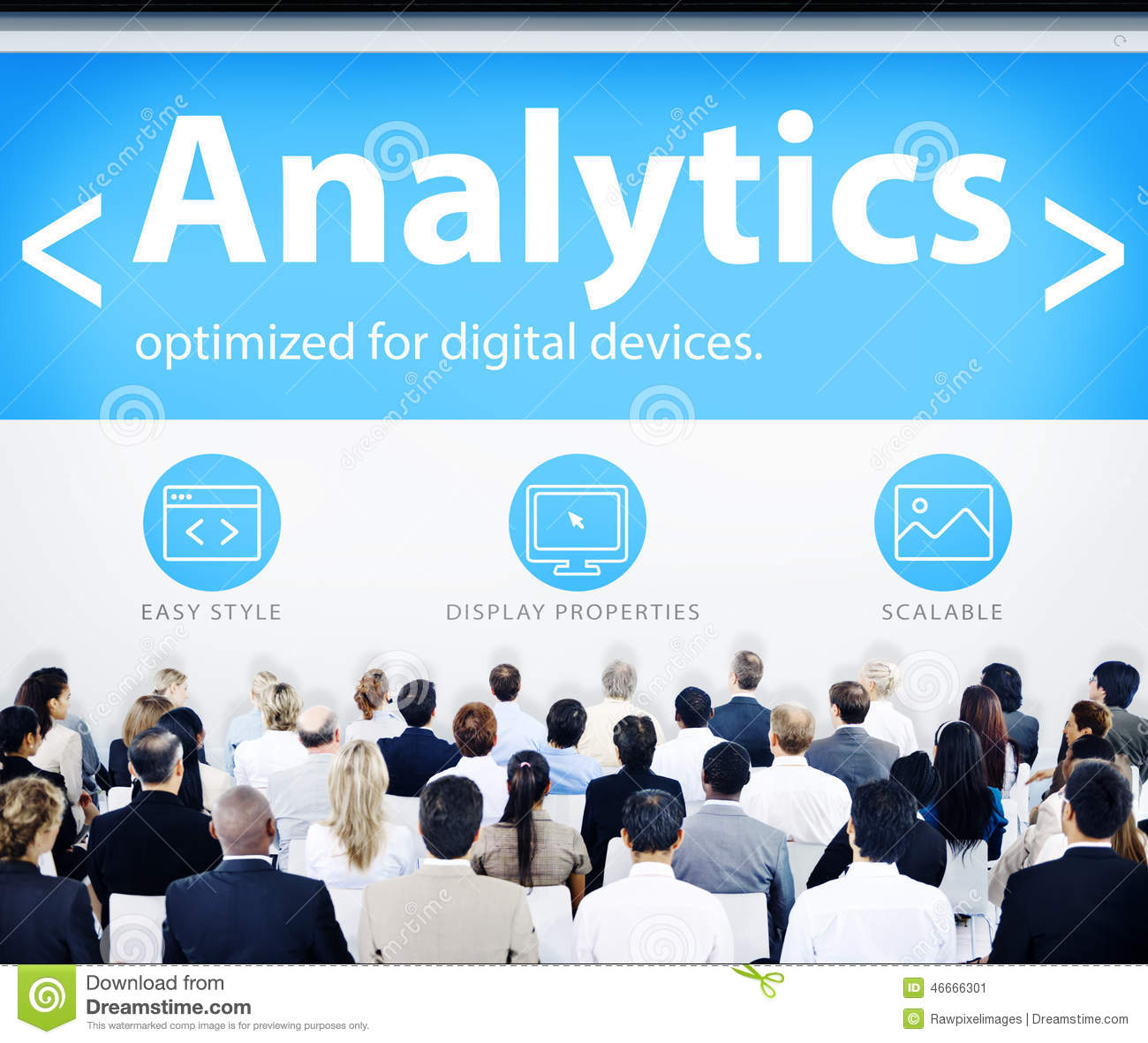 Business People Analytics Web Design Concepts Stock Photo