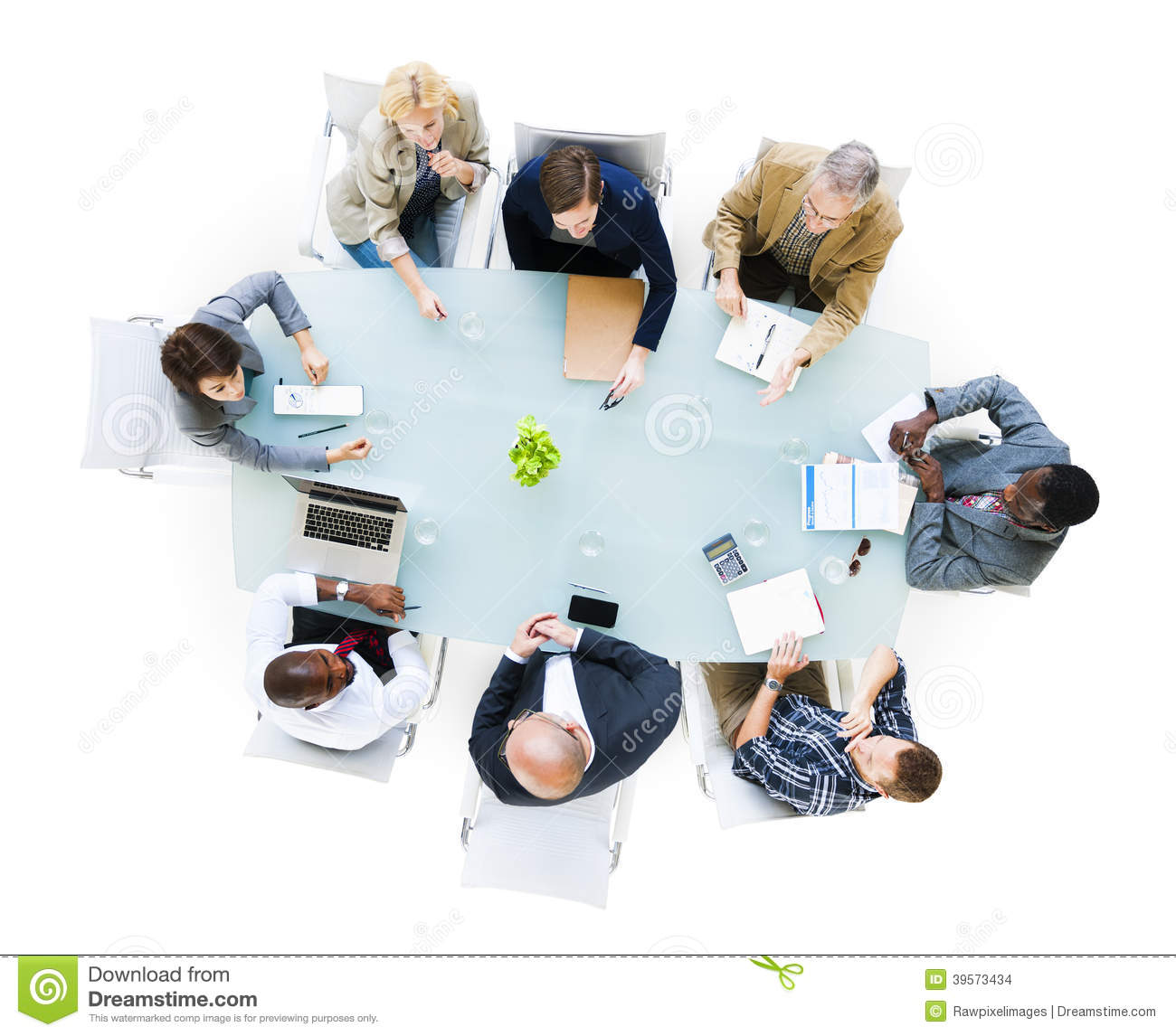 Group Of Business People Around The Conference Table Having A Meeting.