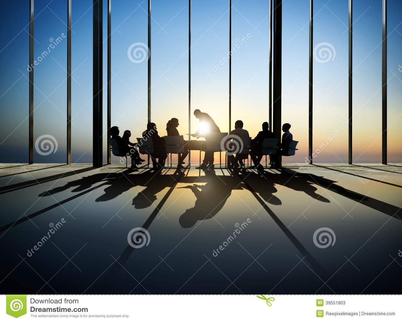 Business People Around The Conference Table