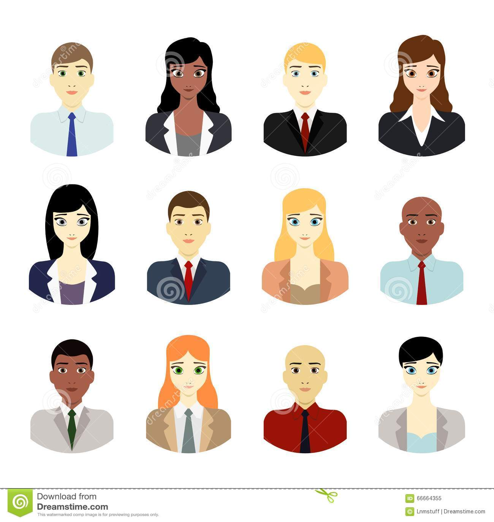 Team Avatar: Business People Avatars Stock Vector. Illustration Of