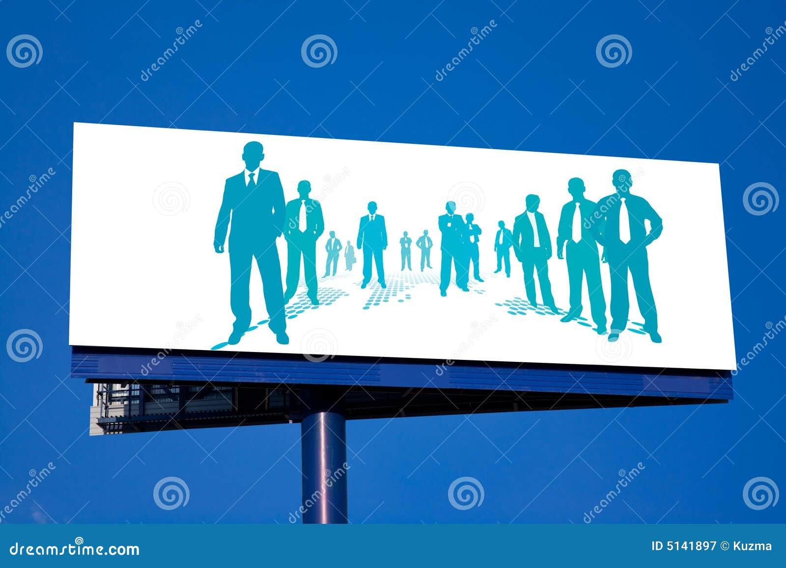Business People Billboard stock illustration. Illustration of ...