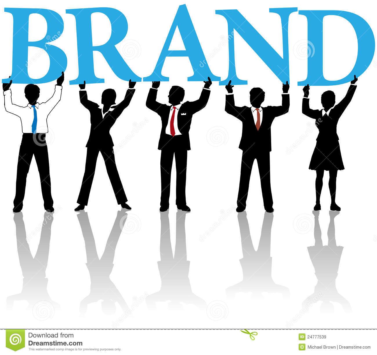 Business people build brand identity word royalty free for Marketing to builders