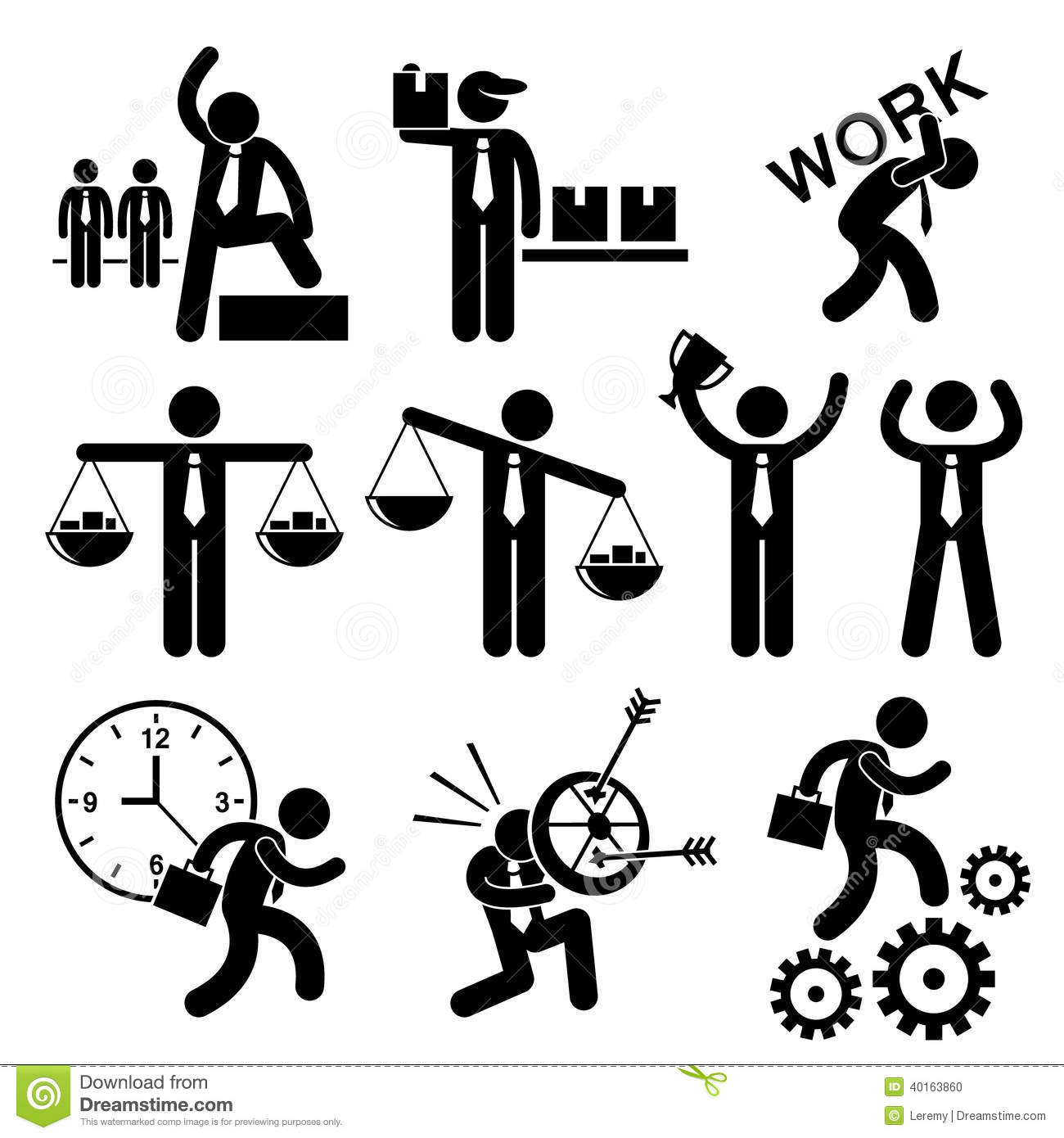 Business People Businessman Concept Cliparts Stock Vector - Image ...