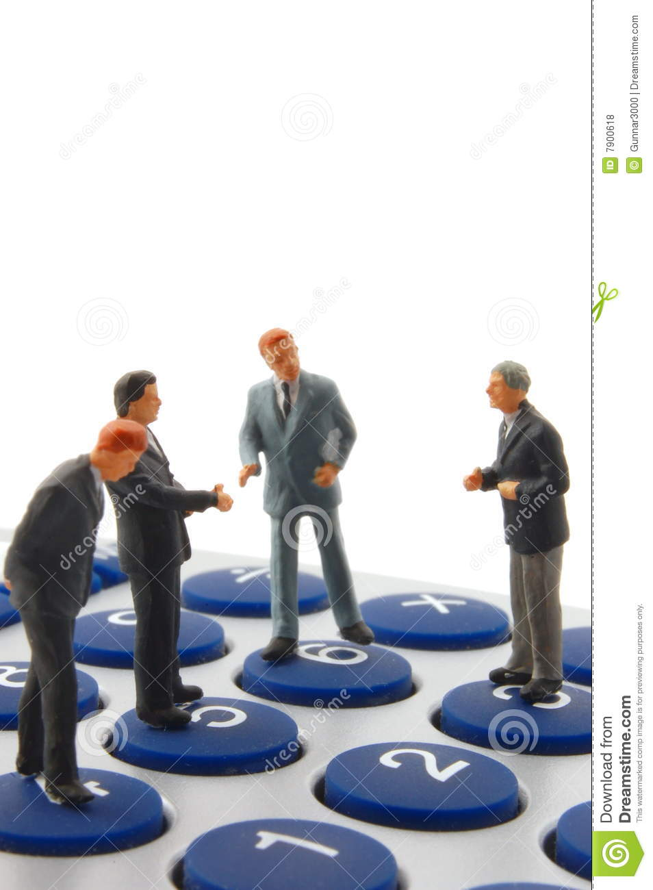 Business People On Calculator Isolated Royalty Free Stock