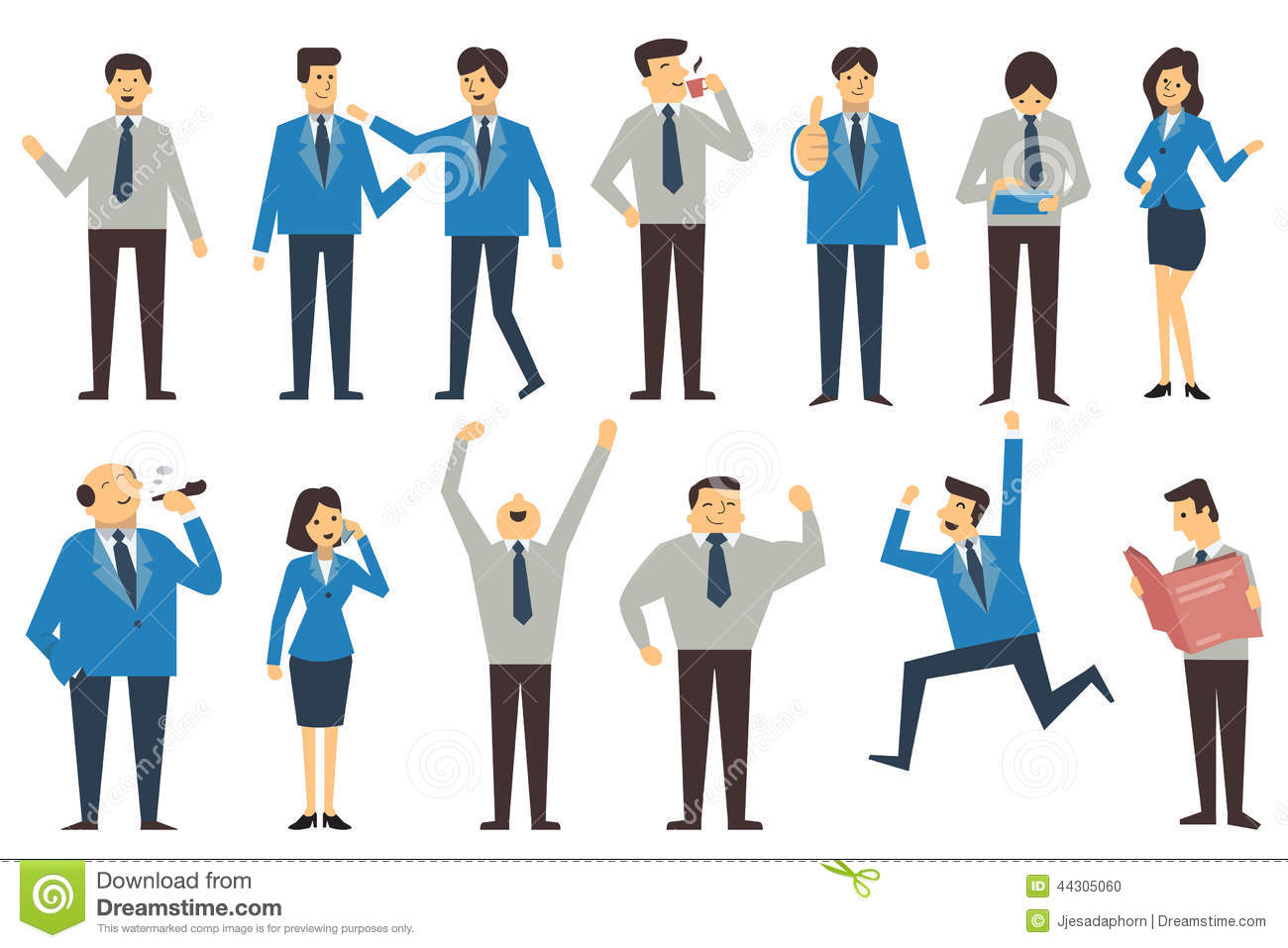 Business People Cartoon Stock Vector. Image Of Feeling